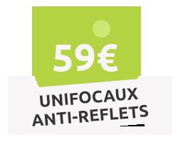 Unifocaux anti-reflets
